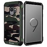 Epxee Samsung Galaxy S9 Hülle Camouflage Silikon Handyhülle TPU Bumper Case Cover Schutzhülle für Samsung S9 - Schwarz
