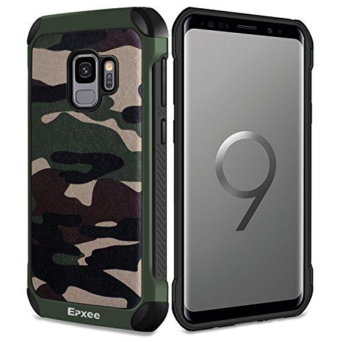 Epxee Hülle für Samsung Galaxy S9, Silikon Handyhülle Schwarz TPU Bumper Cover Schutzhülle für Samsung Galaxy S9 Case - Camouflage