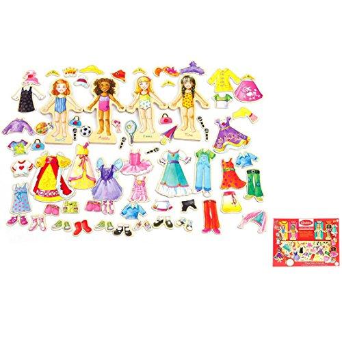 meridy DIY der Kinder aus Holz Spielzeug aus Holz Puzzle Magnetische Änderung Kleidung Game ()