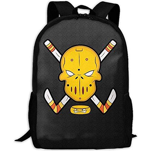 Schulrucksack Eishockey Und Maske Drucken Benutzerdefinierte Mehrzweck Erwachsene Schultasche Lässig Rucksack Travel Daypack