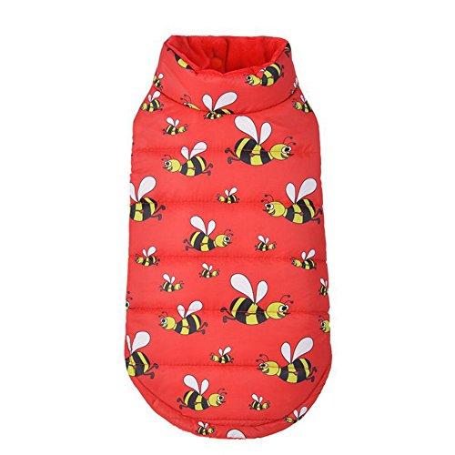 CricTeQleap Haustier-Mantel, Mode Süße Biene Doppelseitig Haustier Hund -