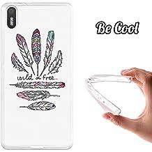 Becool - Funda de gel silicona tpu flexible para bq aquaris x5 wild and free