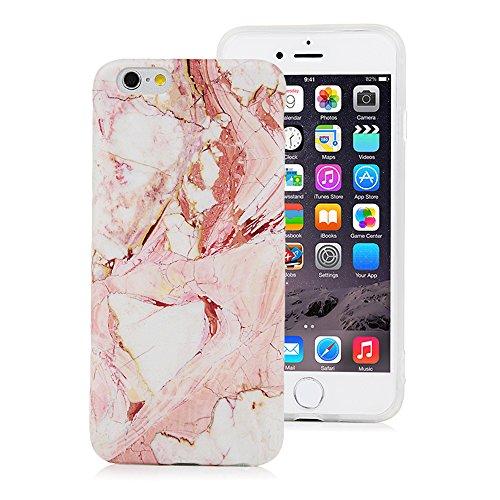 iPhone 6s Marmor Hülle, KASOS Marble Handyhülle : Silikon Case Weich TPU Huelle mit IMD Technologie für iPhone 6, Rose weiß