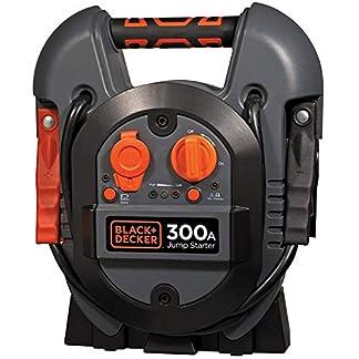 Black+Decker Jump Starter 300 Amp Cargador estación de energía USB 12 V arrancador de Emergencia batería portátil MAX Power con Abrazaderas