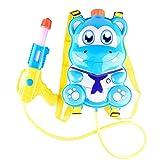 Newin Star - Pistola de Agua,Lanzador de Agua,con depósito Mochila -Diseño de Lindo hipopótamo para niños(Azul)