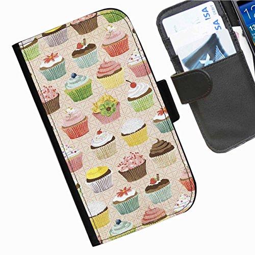 Hairyworm- Kuchen Seiten Leder-Schützhülle für das Handy Sony Xperia SP (C5302, C5303, C5306)