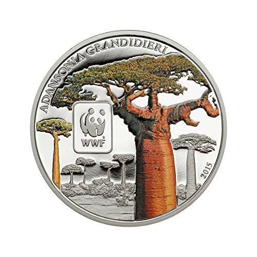 Coin Invest Trust 2015 Zentralafrikanische Republik 100 Francs CFA Farbe - WWF Baobab Kupfer versilbert Münze