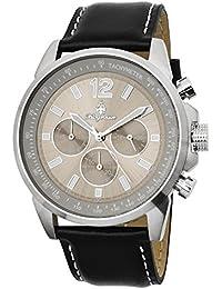 Burgmeister Armbanduhr für Herren mit Analog-Anzeige, Quarz-Uhr und Lederarmband - Wasserdichte Herrenuhr mit zeitlosem, schickem Design - klassische Uhr für Männer - BM608-112 Washington