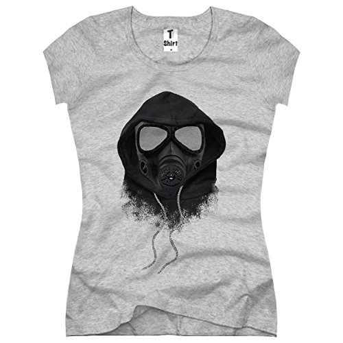 TEE-Shirt, Women T-Shirt Gas-Maske Size XXL,Grau -