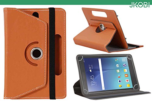 Jkobi 360* Rotating Front Back Tablet Book Flip Flap Case Cover Compatible For iBall Slide WQ32 -Orange  available at amazon for Rs.225