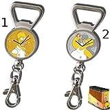 United Labels GIFSMP014 Los Simpson - Llavero con abrebotellas y reloj con diseño de Homer (modelo 2)