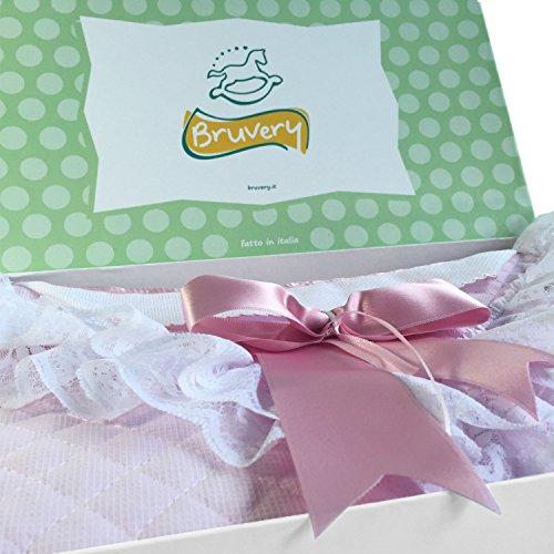Preisvergleich Produktbild Umschlag Erste Schaltung, Tasche für das erste Schaltung des Neugeborenen zur Geburt, mit Streifen in Aida-AZ05Name–handgefertigt In Italien