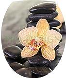 Sticker Autocollant Abattant WC Galets Orchidée 35x42cm SAWC0207