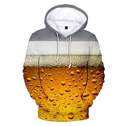 New York Tweed-jacke (Zylione Hoodies Sweatershirt Tops für Herren Männer Bier Festival 3D Druck Langarm Rundhalsausschnitt 2019 Oktoberfest-Thema 3D Druck Langarm Kapuzenpullover Hoodie Pullover M-38XL)
