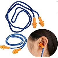 NEWLUK Soft Silicone Earplugs丨Reusable Earplugs Hearing Protection Anti-Noise Shooting Travel Work Concert Indoor and Outdoor (Blue)