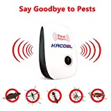 #2: Reject Ultrasonic Pest Repeller, Control for Mosquitoes, Mice, Ants, Roaches, Spiders, Lizards, Flies, Bugs, Non-Toxic, Human and Pet Safe Electronic Plug in Repellent
