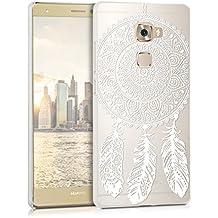 kwmobile Elegante y ligera funda Crystal Case Diseño atrapasueños para Huawei Mate S en blanco transparente