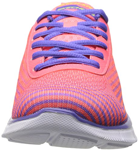 Skechers Equalizerexpect Miracles, Baskets Basses fille Rose (pkpr)
