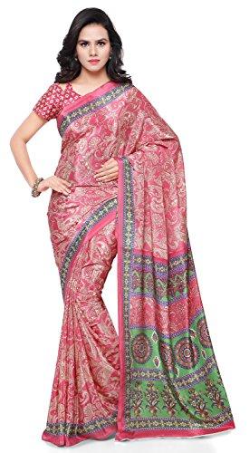 Triveni Sarees Women's Jute Saree With Blouse Piece (Tssu13304_Pink)