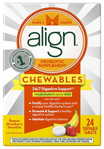 align-probiotic-supplement-banana-strawberry-smoothie-flavored-chewable-probiotics-24-count-chewable
