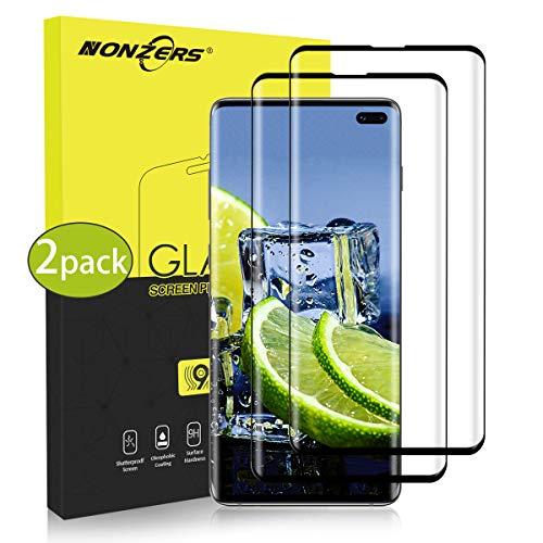 2 Pezzi Pellicola Protettiva per Samsung Galaxy S10 Plus/S10+ Vetro Temperato, Compatibile Sensore di Impronte Digitali, Durezza 9H Anti-Graffo Senza Bolle Pellicola Vetro per Galaxy S10 Plus/S10+
