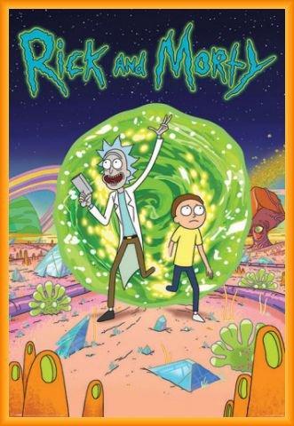 Rick Y Morty Póster con Marco (Plástico) - Portal (91 x 61cm)