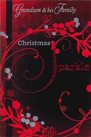 Christmas to Grandson und seine Familie Grußkarte Weihnachts Karten Qualität Süße Worte x1