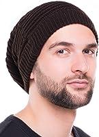Cazalla - Strickmütze - beanie lang mit geripptem Streifenmuster, unisex Skimütze Wintermütze