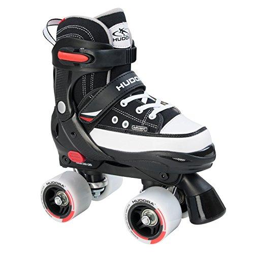 HUDORA Rollschuh Roller Skate Gr. 28-39 schwarz Rollschuhe Skates Discoroller
