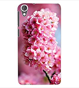 ColourCraft Lovely Flowers Bunch Design Back Case Cover for HTC DESIRE 820