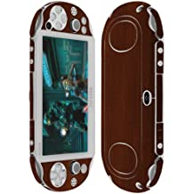 Skinomi Skin Dark Wood Cover+Clear Screen Protector for Sony PS Vita PCH-2000