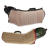 Homyl Douille de Bras Manchon de Protection de Chien et Oreiller Training Anneau de Dentition en Lin Durable Formation Chien