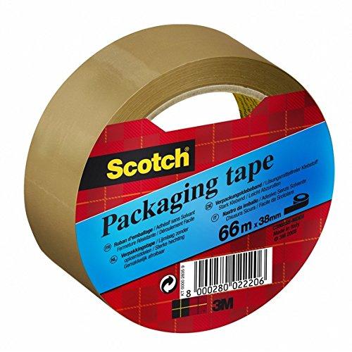 Scotch Packband, 9480438mm x 66m, 1Rolle Jedes Tour Havanna braun - Havanna 3 Stück