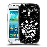 Head Case Designs Offizielle FC Bayern Munich Marmor 2017/18 Muster Soft Gel Hülle für Samsung Galaxy S3 III Mini