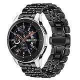 TRUMiRR Galaxy Watch 46mm/Gear S3 Correa de Reloj de Metal, 22mm Correa de Reloj de Metal de Acero Inoxidable Banda de Repuesto para Samsung Galaxy Watch 46mm, Gear S3 Frontier Gear S3 Classic