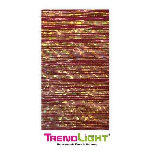 Verzierwachsplatten - Wachsplatten holo dkrot/gold 2 Stück 20x10 cm