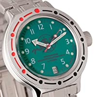 Vostok Amphibian 420386Scuba Dude Ruso Militar reloj 2416b 200m auto verde de VOSTOK