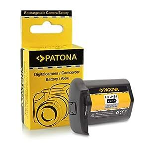 PATONA Batterie LP-E4 / LP-E4N pour Canon EOS 1D C | EOS 1D Mark III | Mark IV (Pour 1DX sans indication de temps restant)