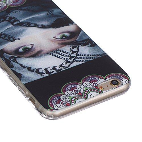 Apple iphone 6 Plus Hülle, iphone 6s Plus 5.5 Zoll Silikon Gel Schutzhülle, Ekakashop iphone 6s plus Weiche TPU Ultradünn Slim-Fit Smartphone Handyhüllen Tasche Back Cover Bumper, Transparent Crystal  Frau eingewickelt Schal