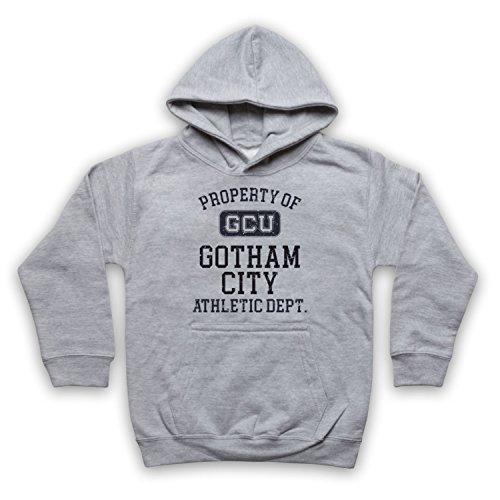 The Guns Of Brixton Justice League Cyborg GCU Gotham City Athletic Dept Kinder Kapuzensweater, Grau, 1-2 Jahren - City Tv Brust