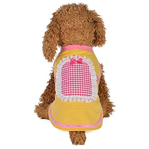 (EUZeo Lovely Hundebekleidung Puppe Kragen Rock Dress Dog Kostüme Hundepullover Katzepullover Kleider für Haustiere Hund Katze Katzekleider Party Kleiner Katzen Hund Minikleider Cocktail Dressing)