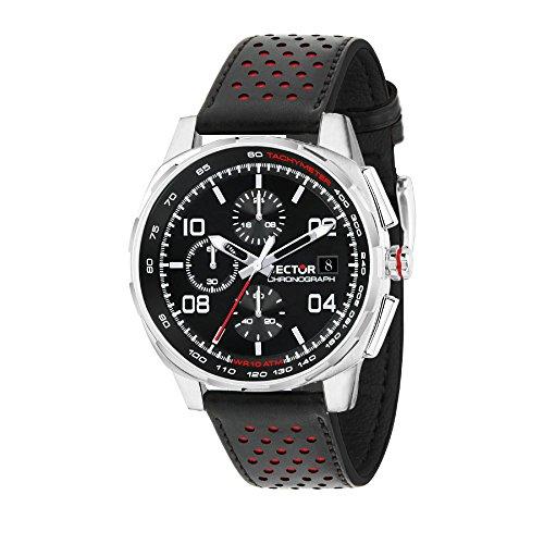 SECTOR NO LIMITS Herren Analog Quarz Uhr mit Leder Armband R3271803001