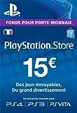 Carte Playstation Network 15 EUR [Code Jeu PSN PS4, PS3, PS Vita - Compte français]