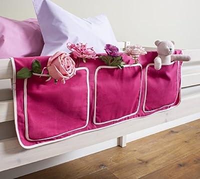 Bed Tidy, Pocket / Organiser for Cabin Beds/Bunks in PINK