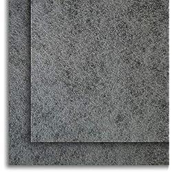 Filtro Universal para Campanas Extractoras con CARBÓN ACTIVO. 2 piezas 57x47 Centímetros, Adaptables. Anti-olor en Fibra Autoextinguible y Carbón Activo.