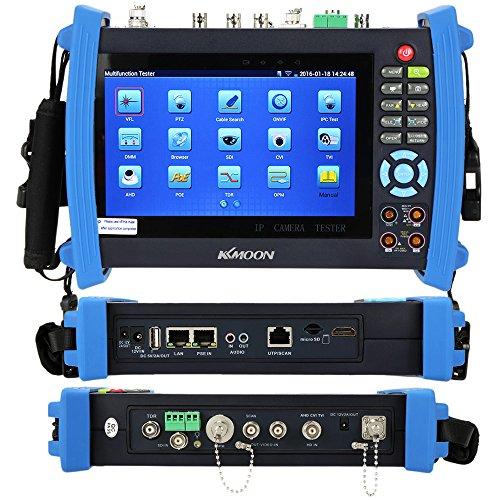 KKMOON 7 Zoll CCTV Onvif IP Camera Tester Screen Monitor AHD SDI TVI CVI HDMI 1080P PTZ POE WIFI DMM TDR Cable Tracer Optical Power Meter Sichtstörungs Verzeichnis IPC 8600MOVTSADH