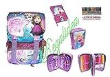 Sac à dos sdoppiabile Disney La reine des neiges + Trousse Plein 3plans + Journal + 30stylos gratuit