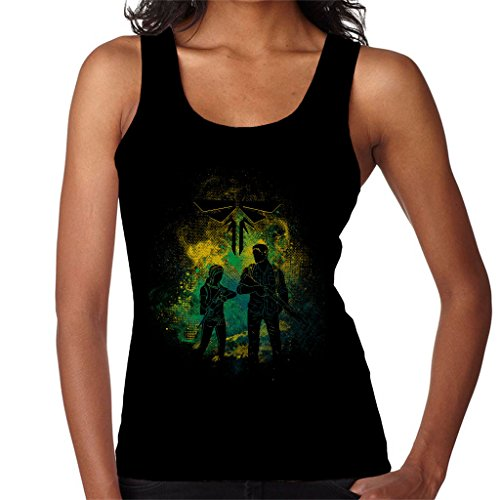 The Last Of Us Joel And Ellie Outline Women's Vest (Clicker The Us Of Last)