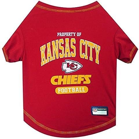 Pets First NFL Kansas City Chiefs Pet Tee Shirt, X-Large