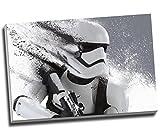Star Wars Storm Trooper schwarz und weiß Wall Art Print auf Leinwand Bild Kunstdruck auf Leinwand groß A176,2x 50,8cm (76.2cm x 50.8cm)